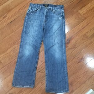 Lucky Brand relaxed straight leg jeans.